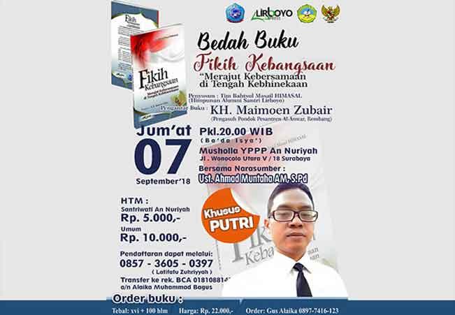 Mahasiswi di PP An-Nuriyah Surabaya Bedah Fikih Kebangsaan