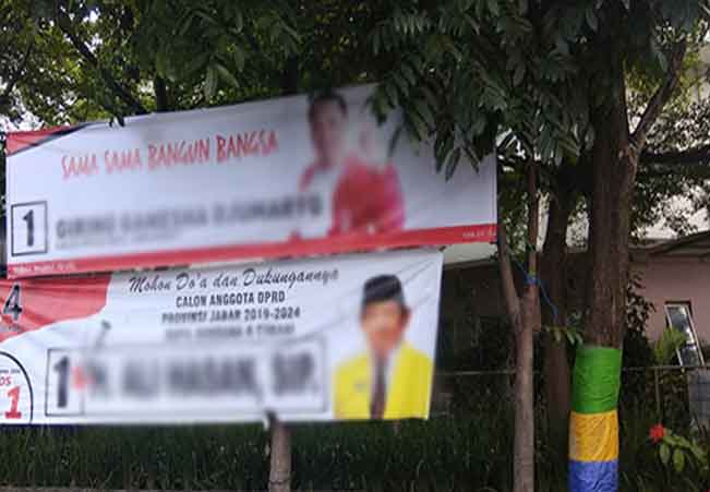 Hukum Pemasangan Peraga Kampanye Sembarangan