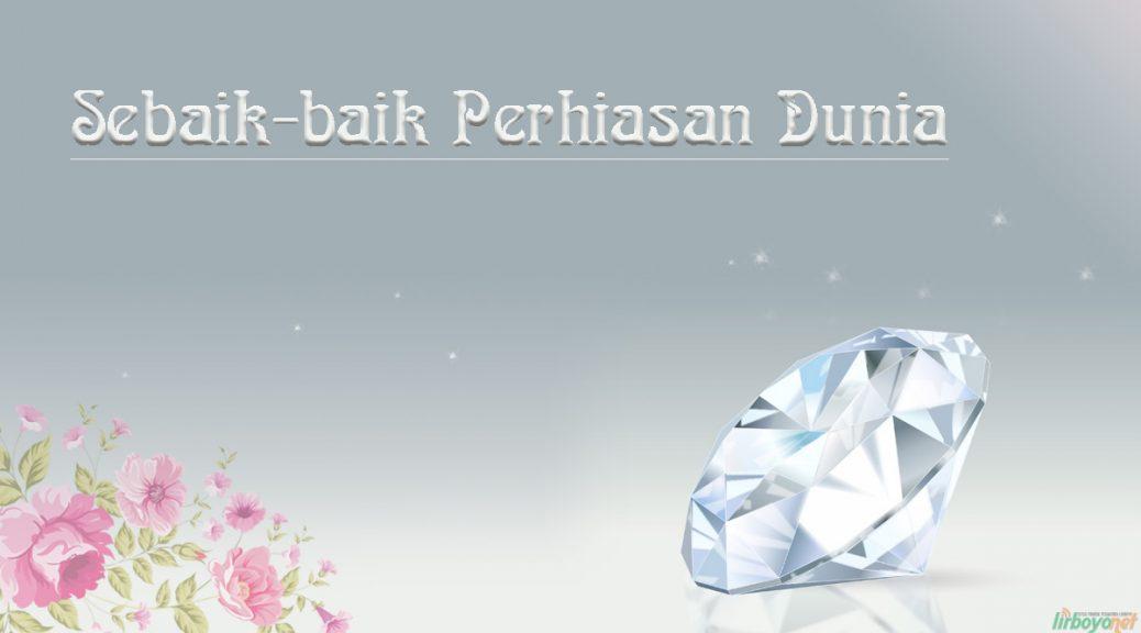 Gambar berlian yang indah dan bunga berwarna pink yang sangat menarik perhatian